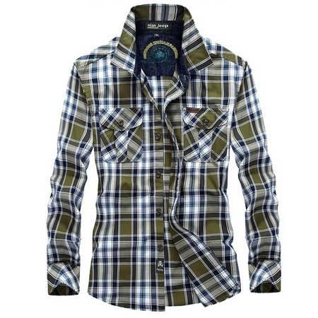新款男式进口灯芯绒印花休闲长袖衬衣