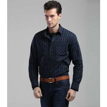 新款 男装新款男士户外休闲长袖衬衫 男式长袖衬衣