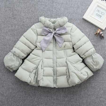 冬款童装外贸原单韩版童外套棉袄女童棉服蝴蝶结
