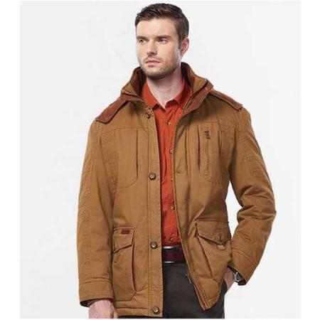 棉衣 男 冬季男式中长款加绒棉衣外套 品牌男装