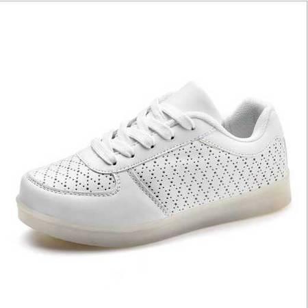荧光鞋情侣夜光鞋情侣款休闲led灯鞋USB发光鞋