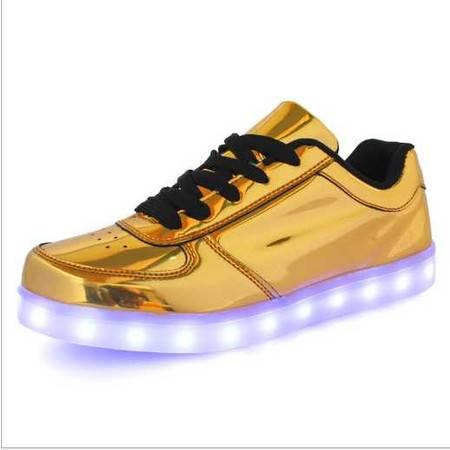 爆款外贸情侣LED发光鞋 七彩夜光鞋荧光鞋LED镜面灯鞋
