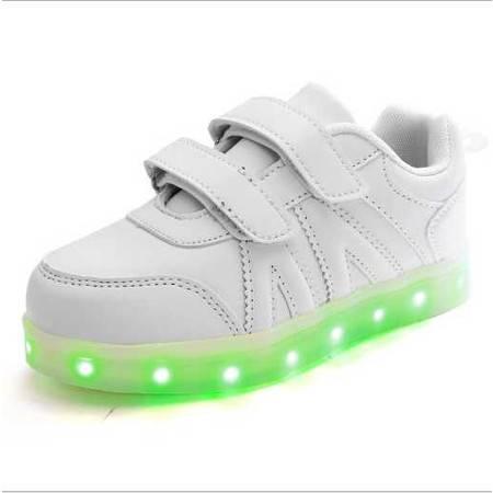 爆款七彩LED充电灯鞋 发光男女夜光外贸充电儿童鞋