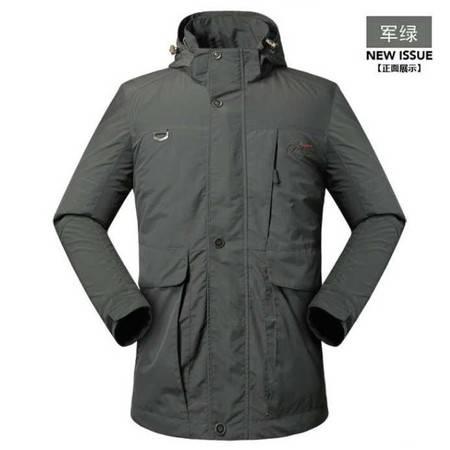 新款 冲锋衣夹克 男装多袋户外防水速干外套