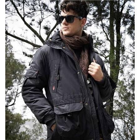 品牌男装秋冬新款P男装中长款羽绒服 男士羽绒外套
