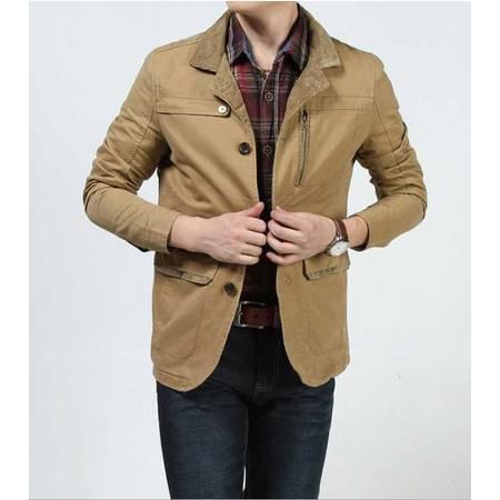 新款西装男士纯棉休闲西服外套