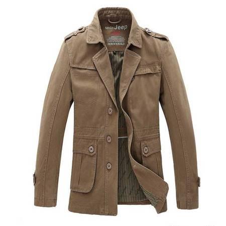 西装外套秋季新款休闲西装 男士全棉水洗夹克