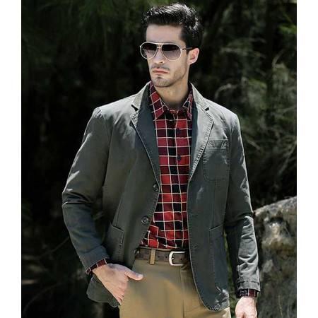 品牌男装男士休闲西服 男西装纯棉休闲外套