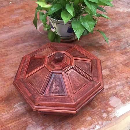 新款赞比亚紫檀木雕九格实木 雕花果盘 家居精品工艺摆件