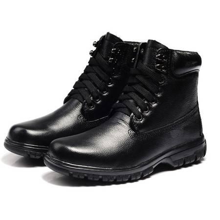BALADY帕莱汀运动休闲男鞋子 保暖中高帮加毛工装男靴子
