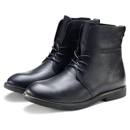 【今日秒杀】 BALADY帕莱汀新款男鞋优质头层牛皮真皮男士潮高帮马丁鞋工装靴子