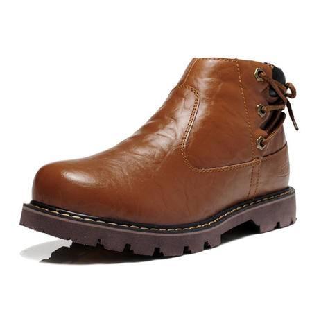 【天天特价】BALADY帕莱汀马丁靴英伦流行男鞋韩版男士皮靴男靴冬季真皮军装靴潮鞋单鞋