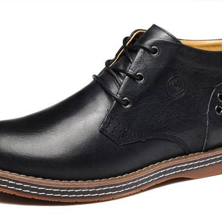 【今日秒杀】BALADY帕莱汀新款中帮时尚商务皮鞋休闲男鞋 大头皮鞋 男士真皮复古男靴子
