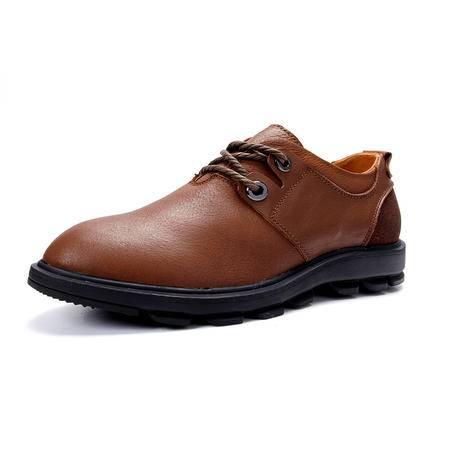 【今日秒杀】BALADY帕莱汀男士豆豆鞋金属扣眼流行男鞋 真皮休闲鞋透气懒人鞋韩版帆船鞋潮单鞋