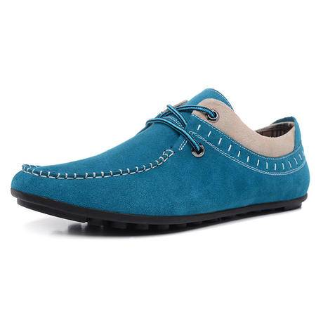 【大促特价】BALADY帕莱汀春夏季流行男鞋子潮英伦休闲鞋拼接帆布透气鞋韩版帆船单鞋豆豆鞋