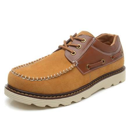 【新款男鞋】BALADY帕莱汀春夏季 男士休闲鞋流行男鞋潮流板鞋子真皮韩版帆布鞋 男帆船鞋