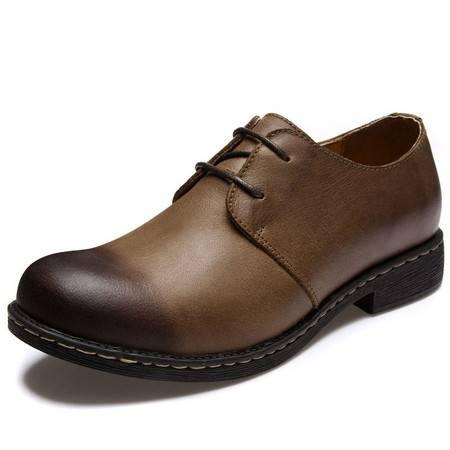 【特价新款】BALADY帕莱汀 欧美明星小贝同款潮流男士休闲鞋头层牛皮皮鞋透气流行男鞋单鞋