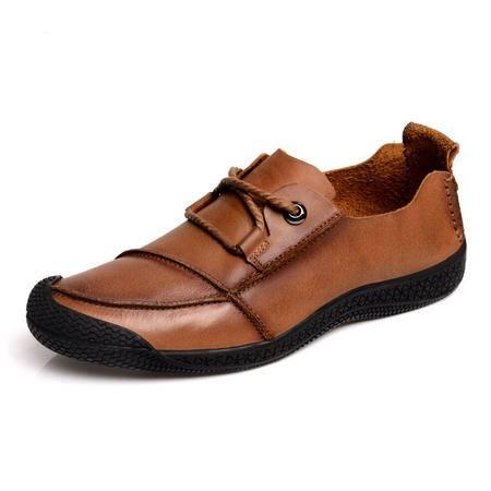 【热卖新款】BALADY帕莱汀新款大码流行男鞋 透气牛皮鞋韩版潮单鞋男休闲鞋 板鞋子男