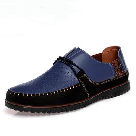 【热卖新款】BALADY帕莱汀夏季流行男鞋休闲皮鞋男按摩鞋底透气韩版男鞋新款潮流真