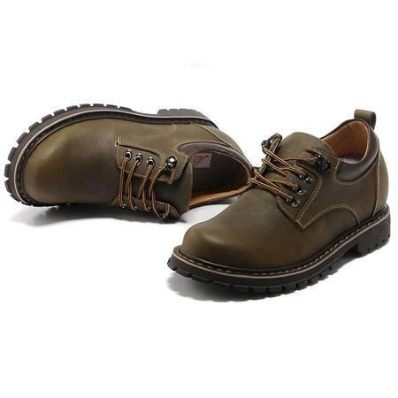 【今日秒杀】BALADY 帕莱汀透气板鞋流行男鞋内增7公分韩版磨砂皮鞋增高鞋潮流休闲单鞋