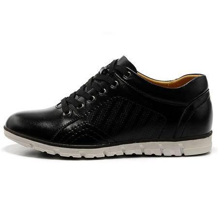 【卖家热荐】BALADY 帕莱汀流行男鞋韩版真皮软底单鞋日常休闲皮鞋潮流隐形内增高鞋