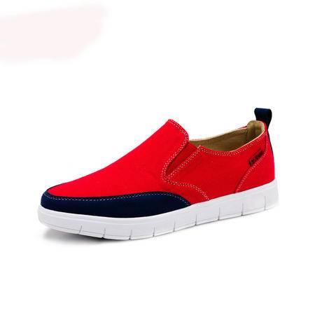 【特价新款】BALADY帕莱汀夏季透气板鞋流行男鞋英伦休闲鞋韩版布鞋潮流懒人鞋一脚蹬豆豆鞋