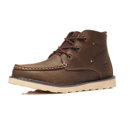BALADY帕莱汀2014新款流行男鞋秋冬高帮男靴子 英伦潮流户外工装鞋男鞋真皮短靴军靴