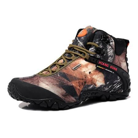BALADY帕莱汀爆款情侣高帮迷彩登山徒步鞋头层牛皮耐磨透气户外防水丛林男女鞋