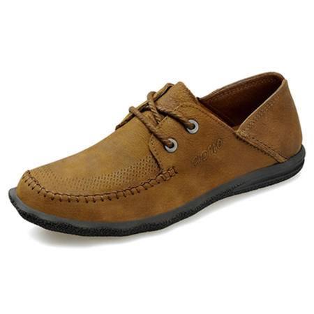 BALADY帕莱汀秋冬季流行男鞋潮鞋韩版板鞋运动鞋英伦透气低帮商务休闲鞋皮车缝线单鞋