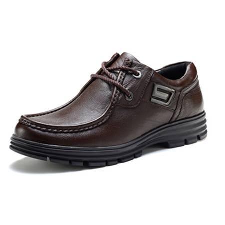 BALADY帕莱汀秋冬季新款流行男鞋商务休闲皮鞋真皮透气牛皮鞋耐磨低帮日常休闲单鞋