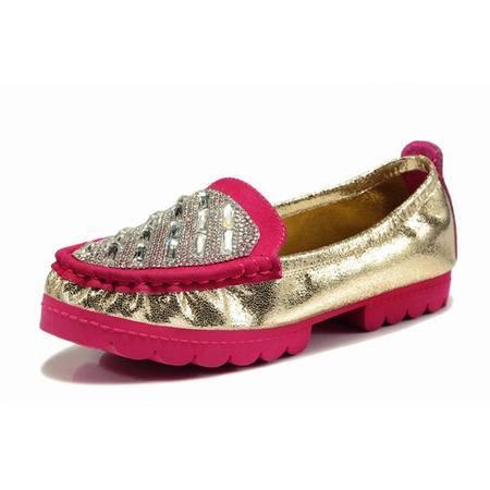 BALADY帕莱汀秋季新款甜美低帮时尚女鞋 透气水钻亮片套脚懒人豆豆鞋安全孕妇鞋潮流休闲鞋