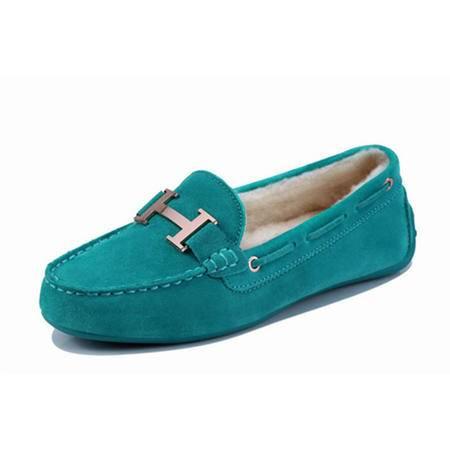 BALADY帕莱汀时尚女鞋韩版保暖单鞋 金属浅口平跟少女鞋秋冬加绒运动休闲鞋套脚豆豆懒人鞋