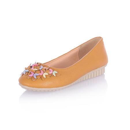 BALADY帕莱汀秋季时尚女鞋低帮平底休闲鞋套脚碎花小清新女韩版潮孕妇妈妈鞋潮流开车鞋