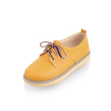 BALADY帕莱汀时尚女鞋低帮透气帆布鞋韩版潮流休闲鞋学生板鞋英伦时尚系带单鞋