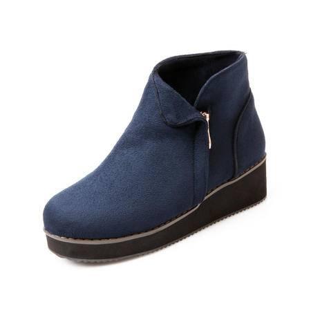 BALADY帕莱汀秋冬季新款时尚女鞋短筒马丁靴女英伦真皮女靴糖果色平底短靴透气单靴潮流裸靴