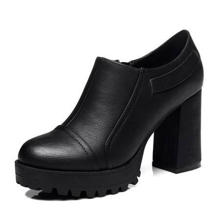 女鞋松糕底单鞋平底浅口板鞋一脚蹬懒