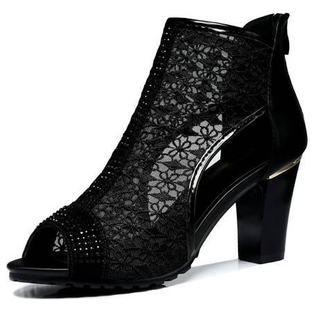 新款时尚单鞋休闲韩版高跟鞋潮流