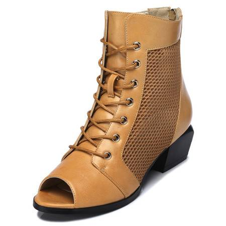 古奇天伦 凉鞋时尚女鞋春夏季2015新款鱼嘴单鞋粗跟高跟大码鞋子