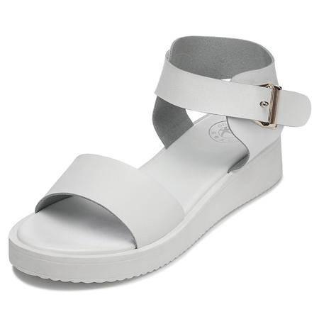 女鞋2015夏季潮流厚底松糕坡跟欧美防水台罗马式露趾凉鞋女
