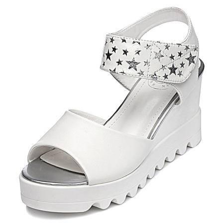 2015夏季新款时尚高贵坡跟女鞋真皮制造女鞋子