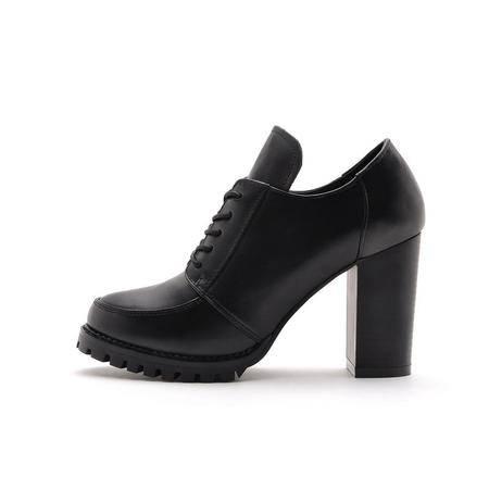 2015夏季新款时髦真皮圆头高跟鞋防水台性感时尚女士单鞋