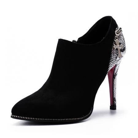 女鞋春秋季新款休闲尖头高跟鞋细跟性感英伦深口女单鞋气质高跟鞋