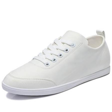 小白鞋平底鞋板鞋平跟休闲时尚女鞋英伦风白色系带透气低帮单鞋女
