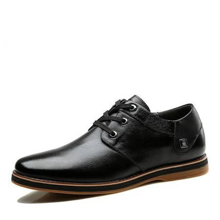 帕莱汀/BALADY 男鞋时尚新款休闲皮鞋系带英伦潮流青年鞋子