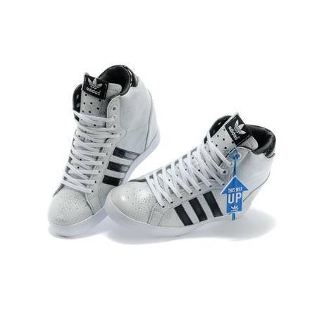 adidas阿迪达三叶草 女内增高蛇纹高帮板鞋Q21910