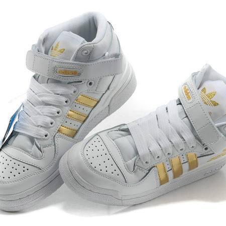 adidas阿迪达斯 forum白色三叶草板鞋大童男鞋女鞋
