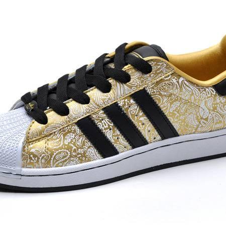 Adidas阿迪达斯三叶草锍金闪银涂鸦金银凤凰贝壳头情侣休闲男女板鞋G63094