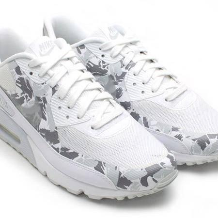 耐克NIKE AIR MAX90 专业跑鞋男女气垫迷彩跑步鞋
