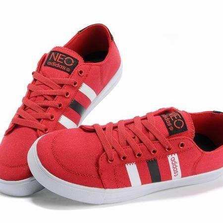 Adidas阿迪达斯新款 NEO韩版校园男鞋低帮运动休闲帆布板鞋x73681