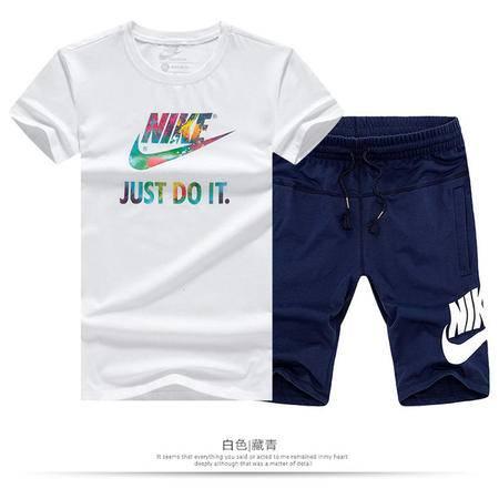 NIKE耐克 男士运动休闲舒适透气短袖T恤短裤套装